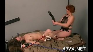 Extreme slavery video with cutie obeying the dirty play